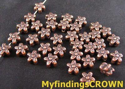 150 Pcs Antiqued copper swirl flower spacer beads FC43C