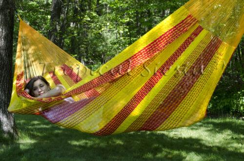 Handwoven Relaxing Mayan Mexican Cotton Jumbo Hammock XXXL Largest Hammock