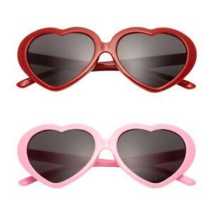 Neuf Coeur Enfants Lunettes de Soleil UV400 Classique Filles Lolita Mode