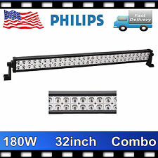 Philips 32inch 180W LED Driving Work Light Bar Spot Flood Lamp Truck 4WD JEEP US