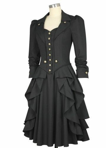 Steampunk Kleid Viktoria Damenkleid Steampunkkleid