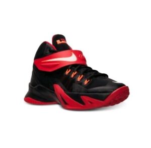 the best attitude ef9f6 c8d3c Details about Nike LeBron Soldier 8 Basketball Shoes Size 6Y University Red  Black 653645-006