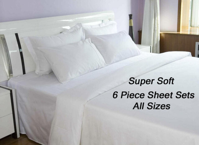 (6) PIECE DEEP POCKET HOME COLLECTION SERIES SUPER SOFT BED SHEETS SHEET SET