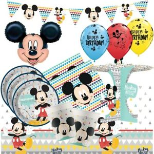 Mickey-Mouse-genial-Party-Supplies-vaisselle-ballons-Decorations-Serviettes