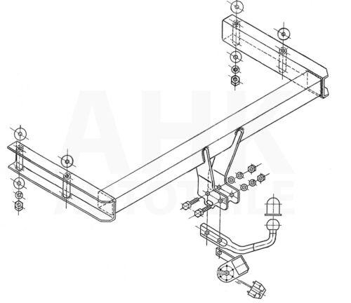 Kpl AHK Für Audi A6 C5 Avant Quattro 97-05 Anhängerkupplung starr+ES 13p uni