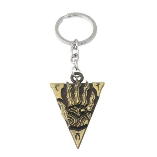 The Elder Scrolls V Skyrim Keychain Morrowind Triangle Pendant Key Ring Holder