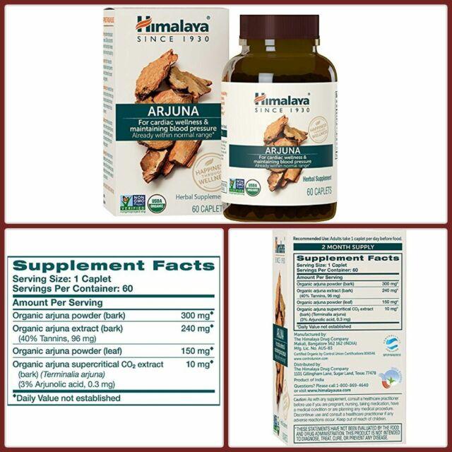 Natural Organic ARJUNA Capsule For Maintain Blood Pressure 60CT by HIMALAYA