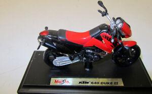 Modelo-de-moto-1-18-ktm-640-Duke-II-rojo-maisto