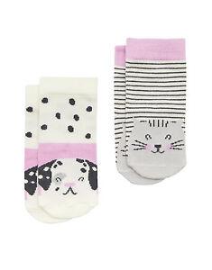 JOULES Tom Joule Baby-Socken 2 Stück Hund rosa Gr. 3 - 24  Monate  NEU