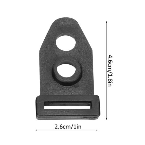 2 Holes Tent Ground Fixed Clip Nail Pole Rod Feet Clamp Accs For Outdoor Camping