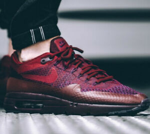 Details about New Nike Air Max 1 Ultra Flyknit Burgundy Red Sneakers 856958-566 Mens 9.5