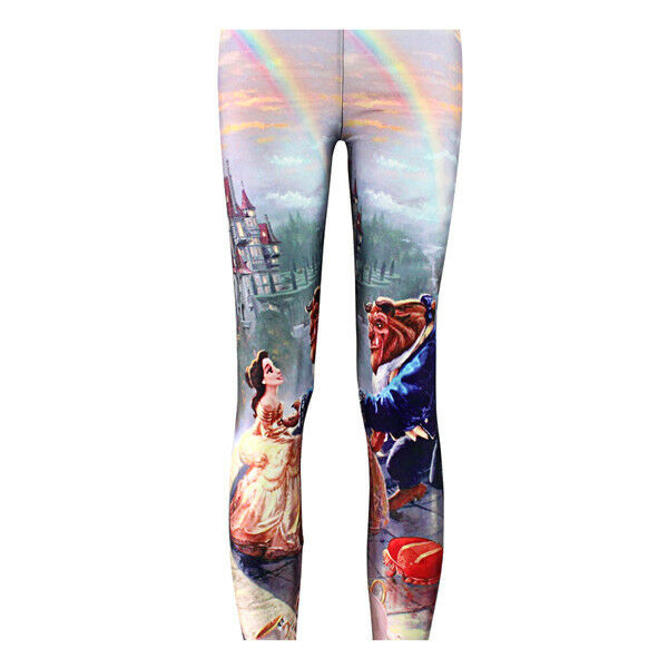 Beauty And The Beast Stretch Funky Leggings. Neuf
