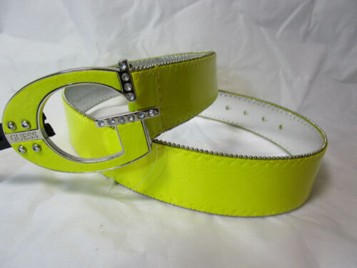 GUESS womens yellow belt with G buckle SIZE MEDIUM new nwt