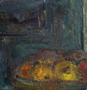 ANTIQUE-EXPRESSIONIST-OIL-PAINTING-STILL-LIFE-WITH-FRUITS