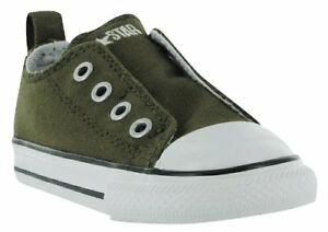 CONVERSE Kids  Chuck Taylor Simple Slip On Sneakers Olive Green ... 561c7b799