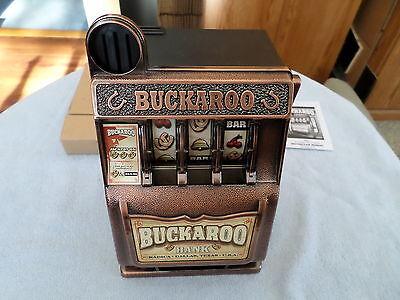 2007 Mattel Bucharoo Bank - Slot Machine - Radica - Battery Operated