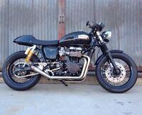 Iron Cobras Fab Moto Gp Style Exhaust Triumph Thruxton Stainless Pipe 2:1