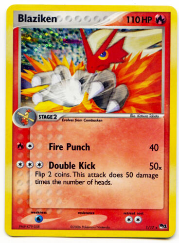Blaziken 1//17 Holo Rare POP1 Series Promo Pokemon Card LP With Tracking