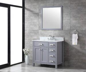 All Wood High End Slate Grey Or Espresso Shaker 36 Inch Bathroom Vanity Ebay