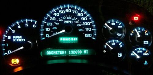 7 WHITE CLEAR Speedometer Gauge Needles 2003-2006 GM GMC Silverado Sierra 7X