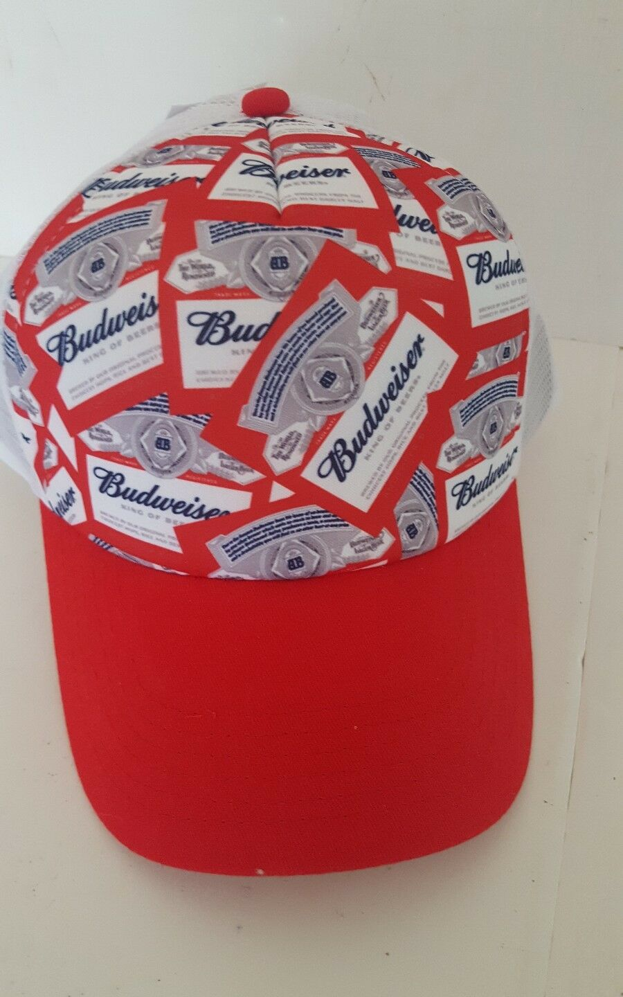 Budweiser Beer Adjustable Snapback Cap Truckers Hat Cap Snapback Bud Labels d904c8