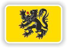 Vlaanderen Flanders Flemish Flag Sticker Bumper stickers Belgium Motorcycle Auto