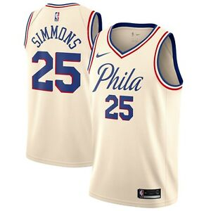 online store 23e92 e9ead Details about New 2018 Nike NBA Philadelphia 76ers Ben Simmons City Edition  Swingman Jersey
