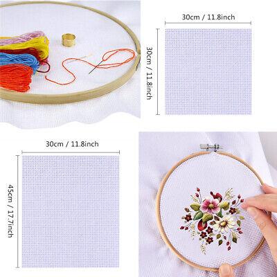 DIY Needlework Craft Canvas Cross Stitch Embroidery Fabric Sewing Aida Cloth