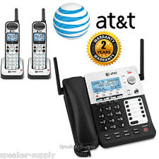 AT&T SYNJ Corded SB67138 w/ 2 Cordless SB67108 Handsets DECT Phone System 4 Line