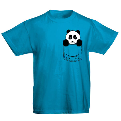 Bambini TASCA PANDA ORSO Carino Animal Print T-Shirt 513 anni