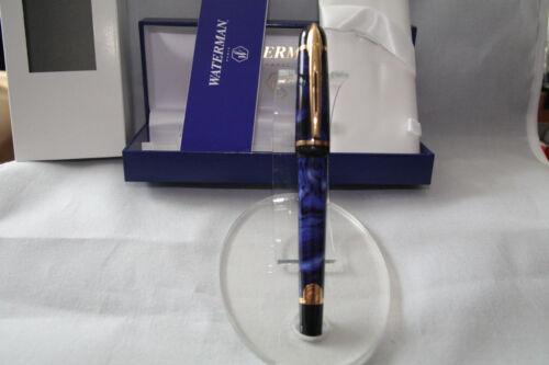 LOOK Waterman Phileas FP,Blue//Marble GT,Medium Nib,Box,papers,NOS