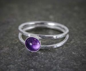 Amethyst-Stone-Ring-Solid-925-Sterling-Silver-Ring-Band-Ring-Handmade-Ring-SR16