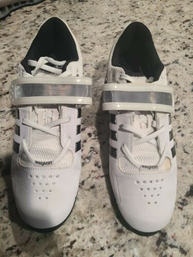 Adidas Adipower White 9 Weightlifting Shoes