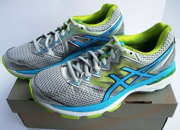 ASICS Gel GT 2000 4 Running Athletic shoes Silver bluee Women's New 6.5 2A  120