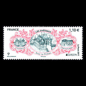 France-2017-EUROPA-Stamps-034-Palaces-and-Castles-034-Architecture-Sc-5234-MNH
