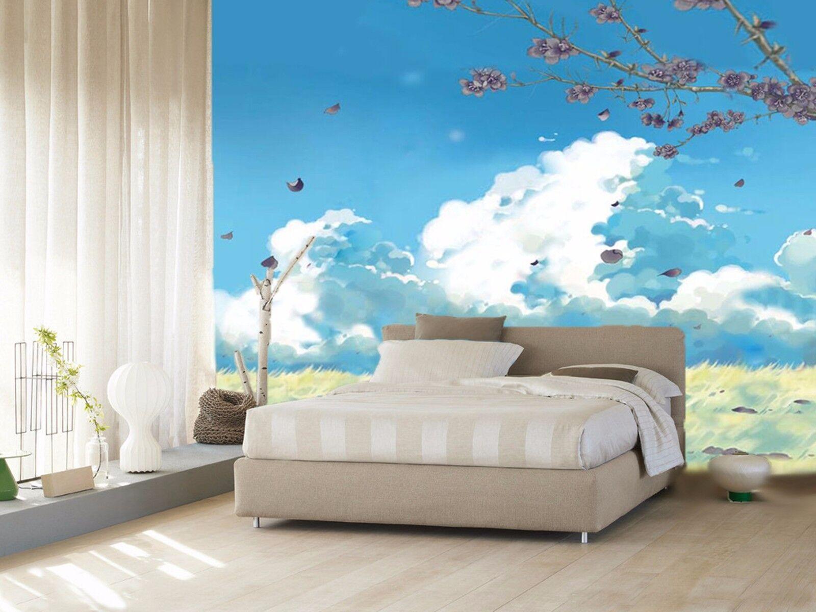3D Blauer Himmel wolken6 Wandbild Fototapete Bild Tapete Familie Kinder DE Lemon