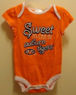 Brand New Russell Athletics Auburn Tigers Snapbottom Baby Bodysuit 0-3 months !