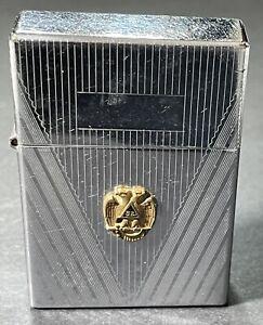 Vintage-1936-Engine-Turned-Zippo-with-Masonic-Emblem-Rare