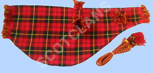 "100% De Qualité Scottish Highland Air Housse Sac & Cordon Wallace Tartan 30"" X 12-afficher Le Titre D'origine"