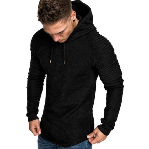 Men/'s Winter Slim Hoodie Hooded Sweatshirt Long Sleeve Sweat Outwear Coat Jacket
