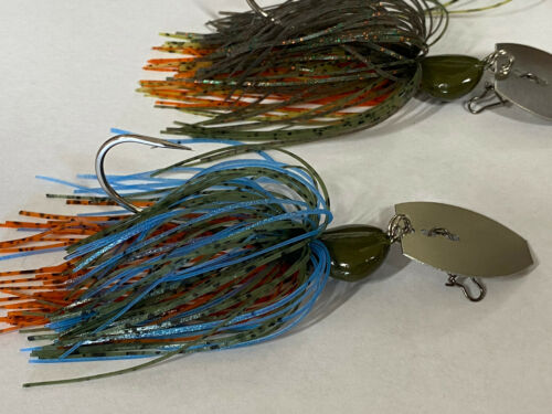 1//2oz Bladed Jig Chatterbait Custom Lot Of 3 Sunfish