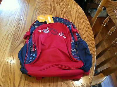 NWT Gymboree Red Sports Print Canvas Backpack /& Lunch Box Combo OR Separates