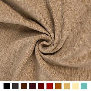 Plain New Soft Rich Brown Thick Chenille Like Velvet Upholstery Material Fabric