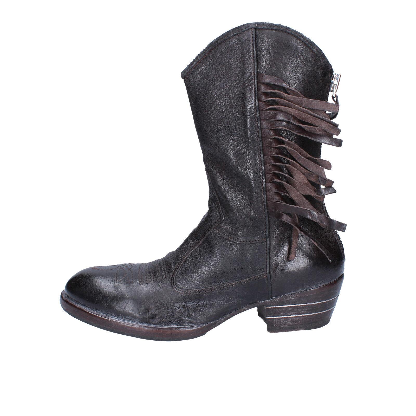mujer zapatos MOMA 37 EU EU EU botasetten marrón leder BX500-37  ventas directas de fábrica