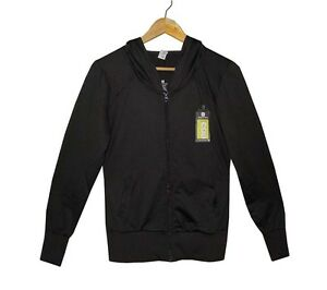 NEW-AUTHENTIC-DOMYOS-WOMEN-039-S-FITNESS-HOODIE-ZIP-UP-JACKET-BLACK-SIZE-SMALL