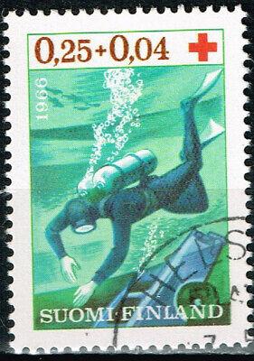 Finnland Tauchen Marine Life Briefmarke 1967 Angenehm Bis Zum Gaumen