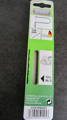 CONNEX lame di ricambio x traforo sega ad arco segaccio 12Pz nuovo 806014 130 mm