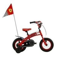 Ferrari Cx 10 12-inch Kids Bike Sports Style Race Flag Chain Protection on sale