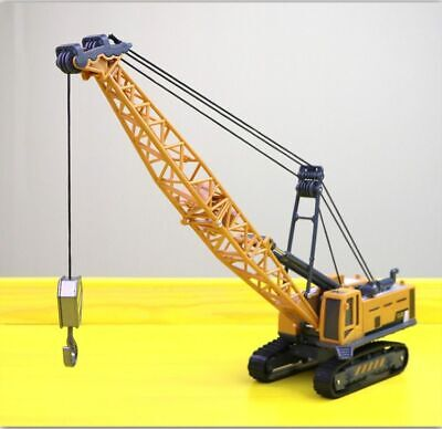 Alloy Diecast 1:87 Excavator Tower Crane Truck Engineering Digging Cable Toys
