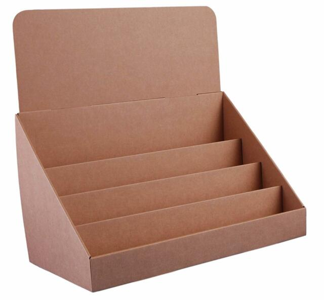 sturdy structure brown 18inch 4 tier cardboard greeting